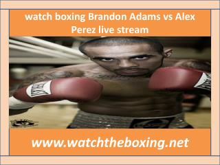 {Watch*} Brandon Adams vs Alex Perez live boxing 13 feb 2015