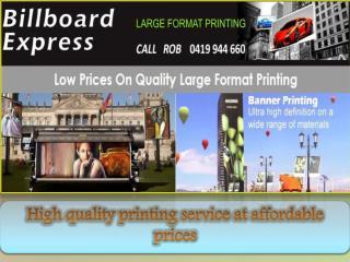Billboard Printing - Billboard Express
