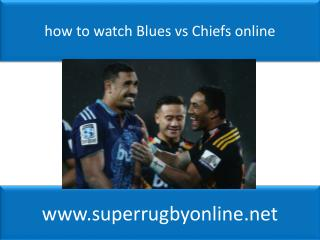 Live Super Rugby Blues vs Chiefs