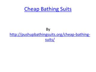 Cheap Bathing Suits