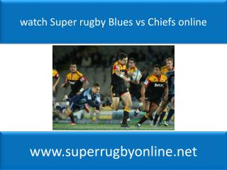 live Blues Super Rugby