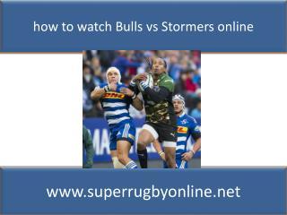 Live Super Rugby Bulls vs Stormers