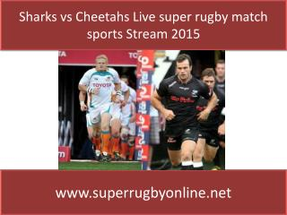 watch Sharks vs Cheetahs live Super rugby