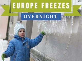 Europe freezes overnight