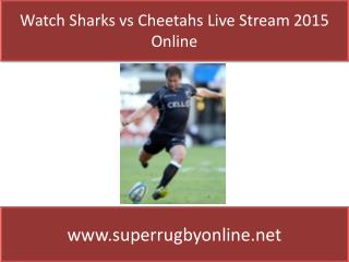 Watch Rugby online Sharks vs Cheetahs