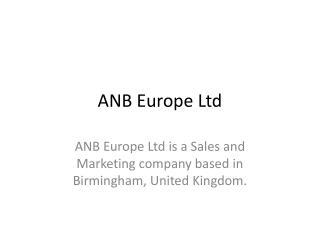 ANB Europe Ltd - Events