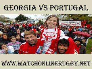watch Georgia vs Portugal online