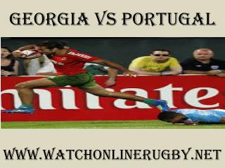 watch Georgia vs Portugal live rugby