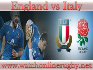 Watch Rugby Stream >> England vs Italy Full Match
