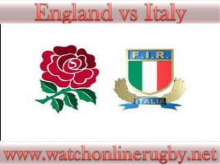watch Rugby England vs Italy stream