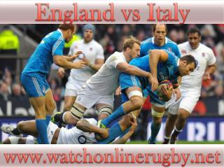 watch rugby England vs Italy online live