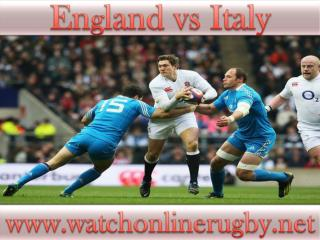 watch England vs Italy online rugby 2015