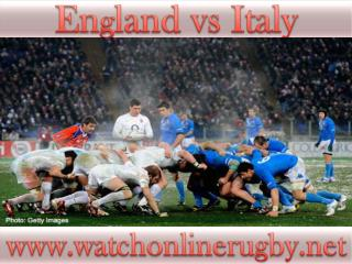 2015 England vs Italy live rugby match