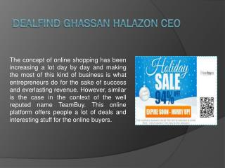 Dealfind Ghassan Halazon CEO