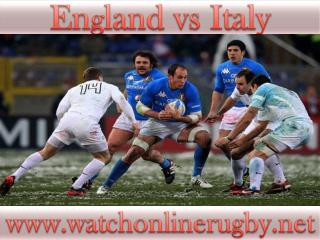 watch rugby England vs Italy live online