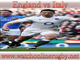 England vs Italy live on webstreaming