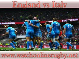 England vs Italy live rugby