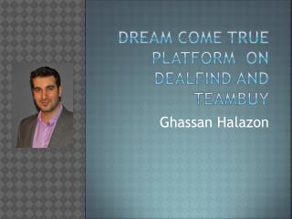 Tremendous efforts of Ghassan Halazon