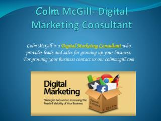 Digital Marketing Consultant- A smart way to get more busine