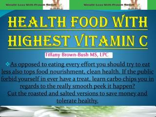Health Food With Highest Vitamin C