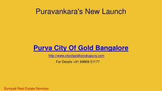 Luxurious flats in Puravankara City of Gold Bangalore