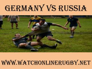 watch Rugby Match Germany vs Russia