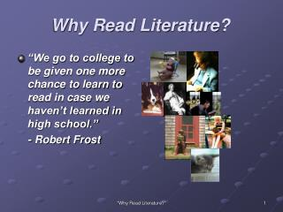 Why Read Literature