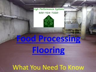 Food Processing Flooring