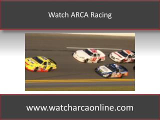 Watch ARCA Racing