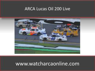 ARCA Lucas Oil 200 Live