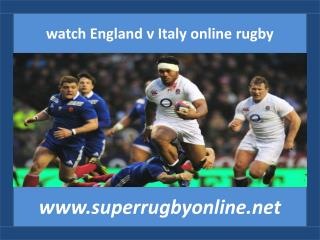 watch England v Italy online rugby
