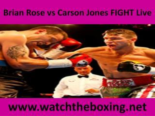Brian Rose vs Carson Jones FIGHT Live