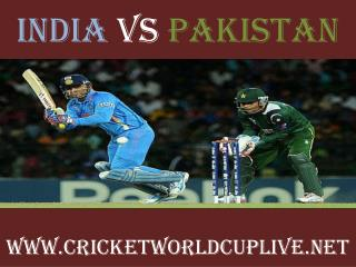 India vs Pakistan 15 feb 2015 live cricket Match 4