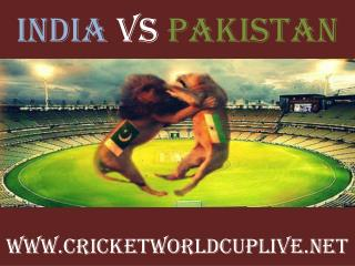 India vs Pakistan 15 feb 2015 stream