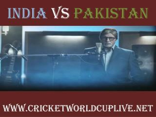 India vs Pakistan match will be live telecast on 15 feb 2015