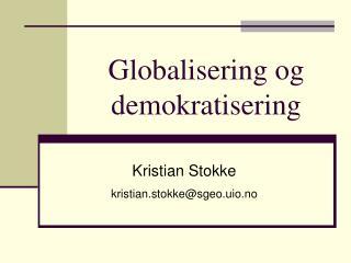 Globalisering og demokratisering