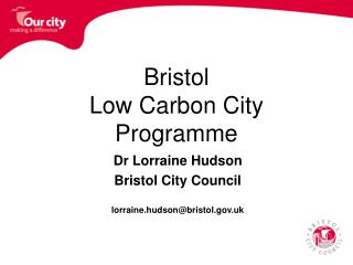 Bristol Low Carbon City Programme