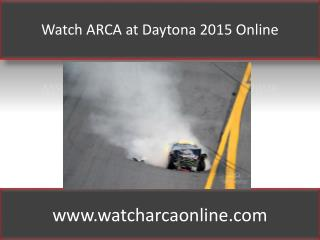 ARCA at Daytona 2015