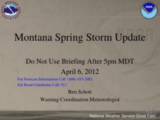 Montana Spring Storm Update