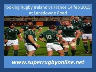 liv coverage Rugby Ireland vs France 14 feb 2015 at Lansdown