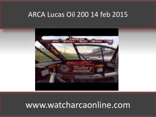 ARCA at Daytona 2015 Lucas Oil 200