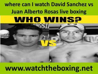 where can I watch David Sanchez vs Juan Alberto Rosas live b