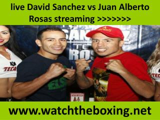 live David Sanchez vs Juan Alberto Rosas streaming >>>>>>>