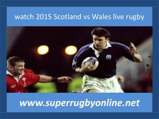 watch 2015 Scotland vs Wales live rugby