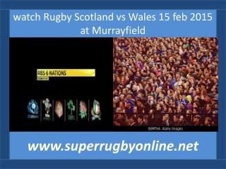 watch Rugby Scotland vs Wales 15 feb 2015 at Murrayfield