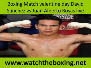 boxing David Sanchez vs Juan Alberto Rosas live fight