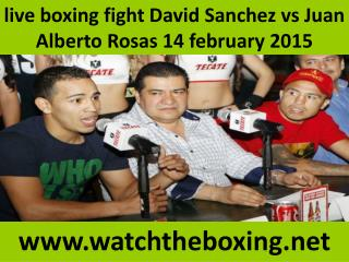 watch Sanchez vs Rosas live stream((()))