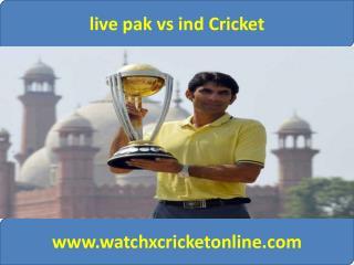 live pak vs ind Cricket