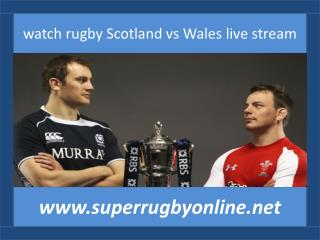 watch Scotland vs Wales online rugby