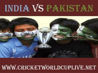Watch India vs Pakistan live cricket